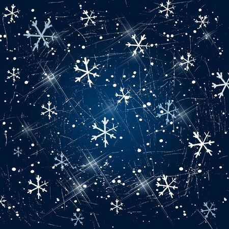 Vector beautiful icy snowflakes background  Vector