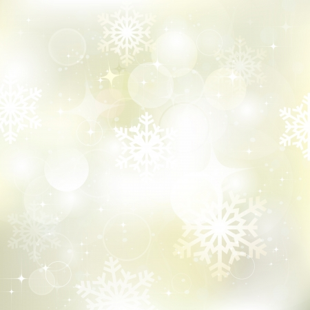 gold snowflakes: Vector glittery gold Christmas background  Illustration