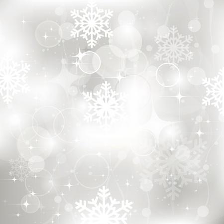 Vector glittery zilveren Kerst achtergrond