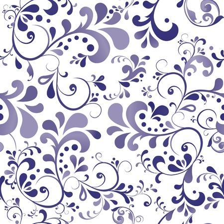 floral pattern motif: Vector ornament wallpaper