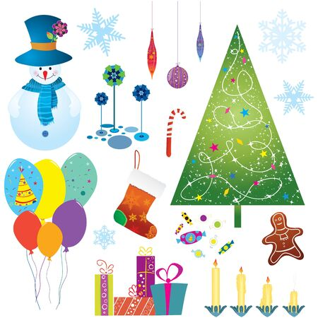 Vector cute Christmas elements  Stock Vector - 16554079