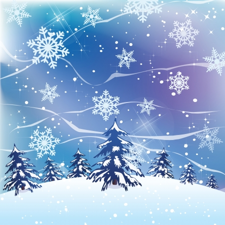 Vector beautiful Christmas fir-tree background  Vector
