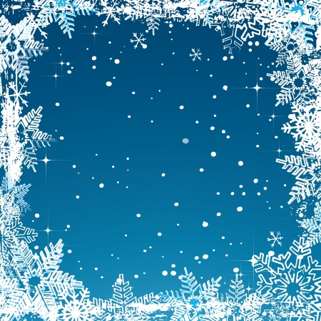 Vector abstract Christmas card with snowflakes  Vector