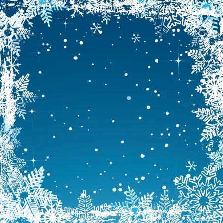 Vector abstracte Kerstkaart met sneeuwvlokken