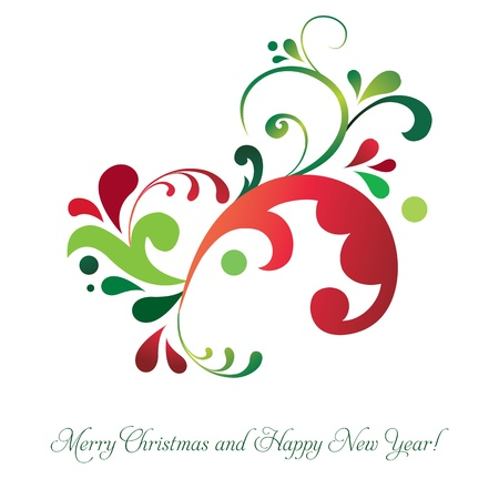 year january: Vector beautiful Christmas invitation card