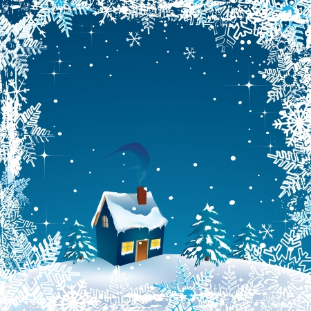 Vector beautiful Christmas and Happy-New-Year card  Vector