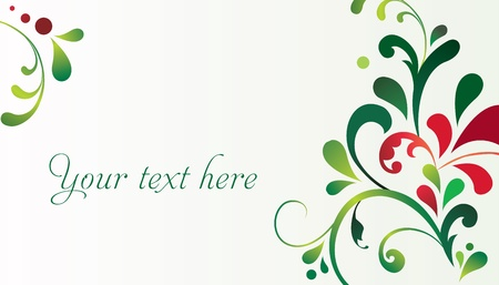 Vector elegant decorative Christmas card  Illustration