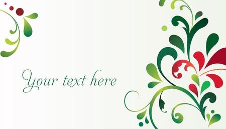 cute border: Vector elegante decorativo Cartolina di Natale Vettoriali