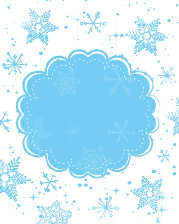 Vector template frame design for xmas card  Stock Vector - 16554077