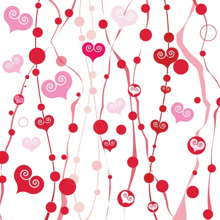 drawing paper: Vector abstract love background
