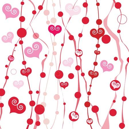 Vector abstracte liefde achtergrond