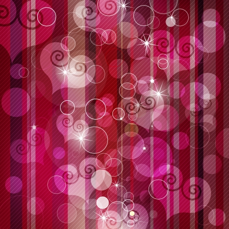 Vector beautiful hearts lens flare background illustration  Vector