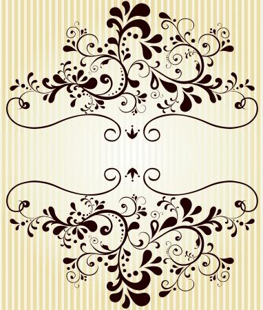 quadratic: Vector bella floreale etichetta dell'annata
