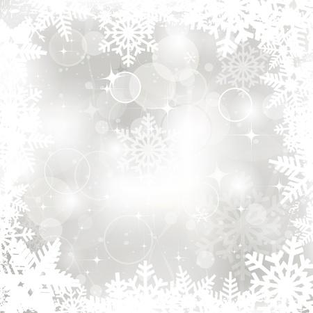 Vector glinsterende zilveren Kerst achtergrond Stockfoto - 16554106