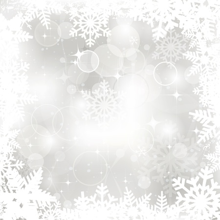 silver christmas: Vector glittering silver Christmas background