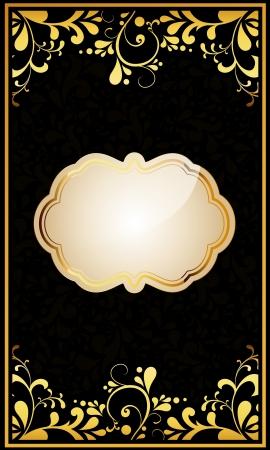 Vector vintage invitation card  Stock Vector - 16554010