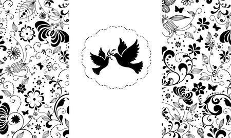 Vector elegant greeting card. Stock Vector - 16554107