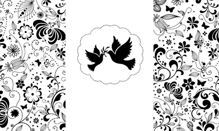 Vector elegant greeting card. Vector