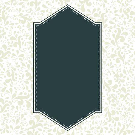 Vector elegant ornate background with floral illustration. Vector