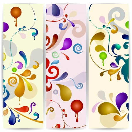 bright decoration color: Vector vertical abstract banner.