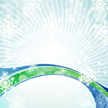 Vector abstract winter shiny background. Stock Vector - 16553992