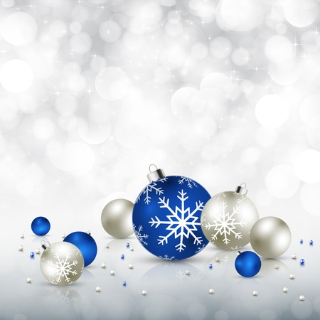 silver christmas: Vector elegant Christmas background.