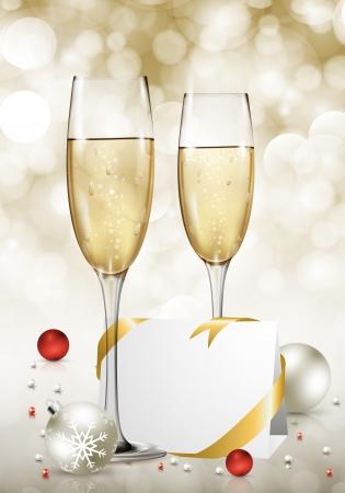 Vector New Year card. Stock Vector - 16554047