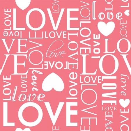 Vector naadloze liefde hart vorm patroon. Stock Illustratie