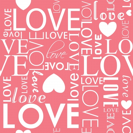 Vector seamless love heart shape pattern. Vector