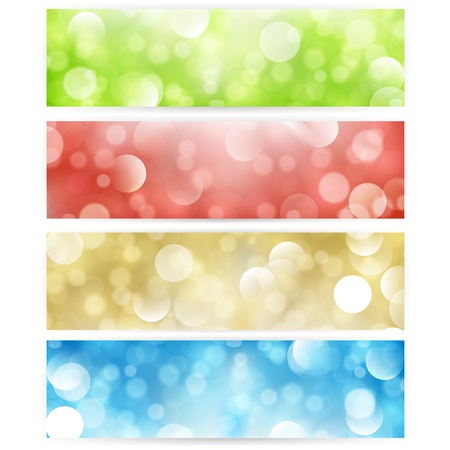 Vector banners, headers abstract lights.  Vector