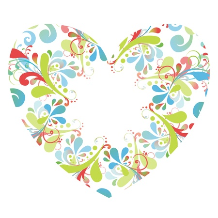 floral heart background Stock Vector - 17753405