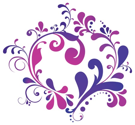 abstract floral heart  Love concept Stock Vector - 17753370