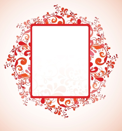 ornate floral template Stock Vector - 17753422