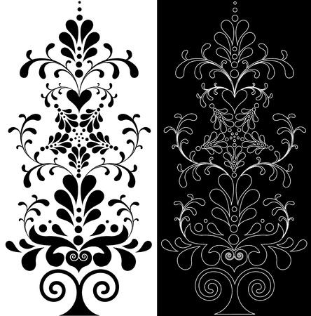 isolado no branco: Bela decora