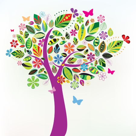 beautiful tree. Vector