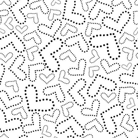 elegant gestippeld hart naadloze patroon Stock Illustratie