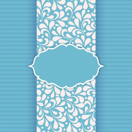 Ornate frame for invitation or announcement  Vector