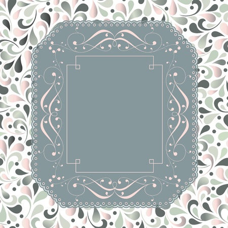 Wedding card or invitation with floral ornament background  Perfect as invitation or announcement  Stock Vector - 19605468