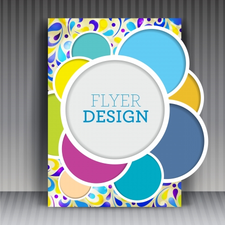 Brochure flyer of cover design bedrijf. Bewerkbare creatieve illustratie. Stockfoto - 20172828