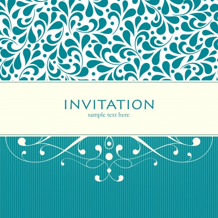 Vector wedding card or invitation with floral ornament background. Perfect as invitation or announcement. Stock Vector - 20172654