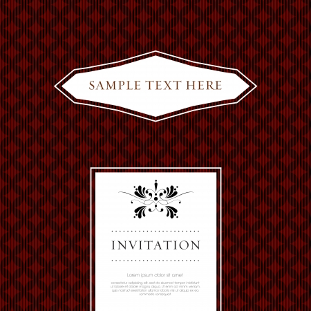 wedding card or invitation with floral ornament background. Perfect as invitation or announcement. Stock Vector - 20172709