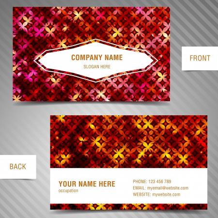 businesscard: modern abstract business-card set. Illustration