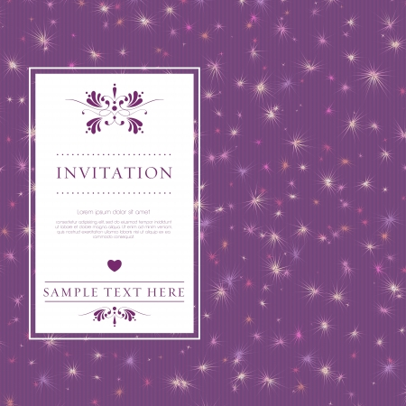 wedding card or invitation with floral ornament background. Perfect as invitation or announcement. Stock Vector - 20172718