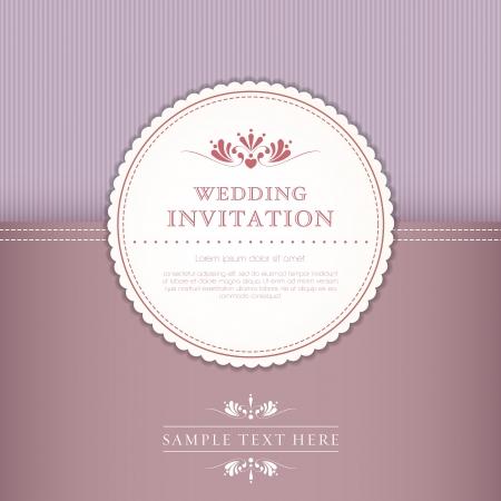 solemn: tarjeta de boda o invitaci�n con fondo de ornamentaci�n floral. Perfecto como invitaci�n o anuncio Vectores