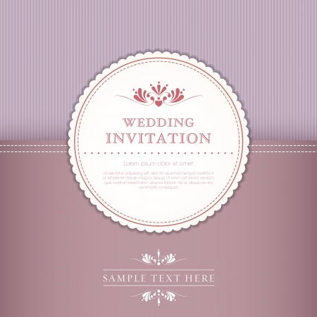 wedding card or invitation with floral ornament background. Perfect as invitation or announcement Vector