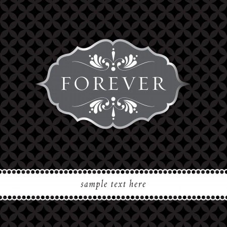 wedding card or invitation with floral ornament background. Perfect as invitation or announcement. Stock Vector - 20161710
