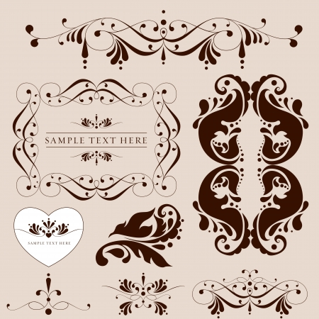 Vector set calligraphic design elements and page decoration - lots of useful elements to embellish your layout. Vector