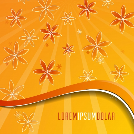 Vector festive summer card. Background with  hand drawing flower. Vector