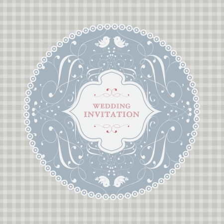 wedding card or invitation with floral ornament background. Perfect as invitation or announcement. Stock Vector - 20172563