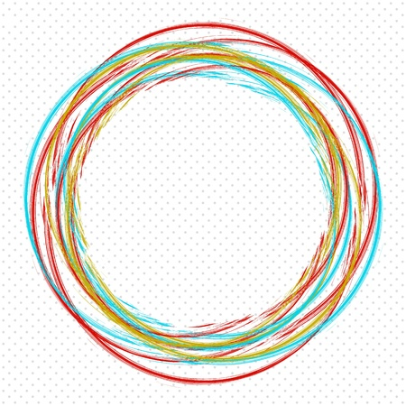background with colored circles. Illustration